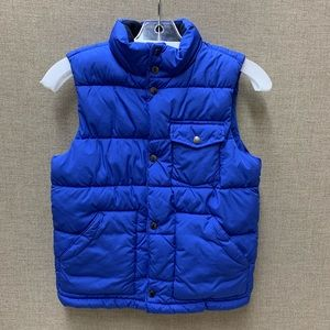 Boys Gap Blue Puffer Vest Size M(8)